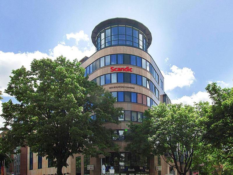 Hotel Scandic Berlin Frontansicht